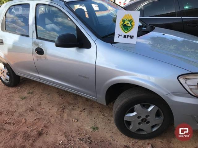 Policiais Militares do 7º BPM recuperam em Cruzeiro do Oeste veículo que foi roubado em Umuarama