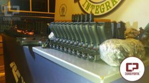 Operação de Fronteira Integrada apreende 35 pistolas, 51 carregadores e mais de oito mil munições na Ponte da Amizade