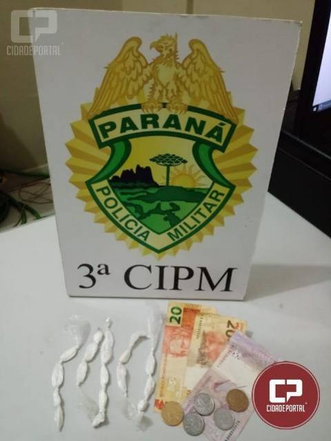 Polícia Militar da 3ª CIPM prende um indivíduo e apreende entorpecente em Santa Cruz de Monte Castelo