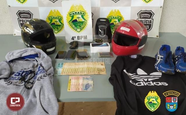 PM prende autores de roubo e receptador em Maringá