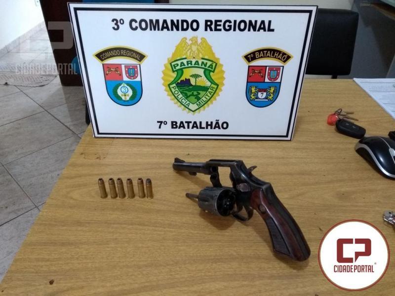 Arma utilizada em tentativa de assalto em Quarto Centenário foi entregue a Polícia Militar