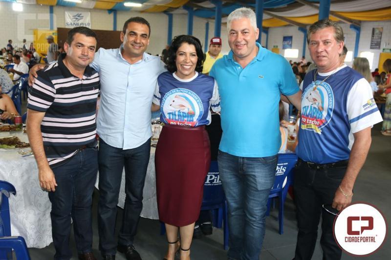 Secretário Douglas Fabrício participou da  Festa da Tilápia no Tacho em Rancho Alegre D´Oeste