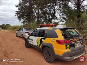PRE de Cianorte prende duas pessoas, apreende veículo e arma de fogo