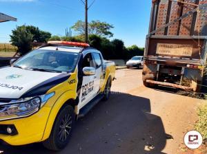 PRE de Cianorte recupera dois semirreboques no trevo de acesso a cidade de Jussara