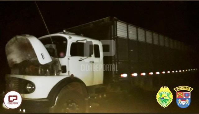 Polícia Militar recupera caminhão roubado em Tuneiras do Oeste