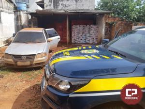 PRF estoura depósito de cigarros contrabandeados e apreende três carros em Terra Roxa