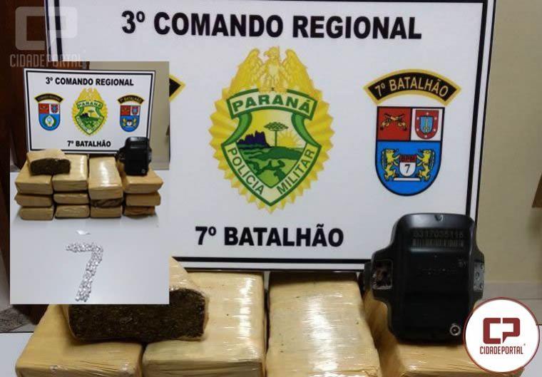 Uma pessoa foi presa em Nova Olímpia com drogas pela Polícia Militar e Polícia Civil