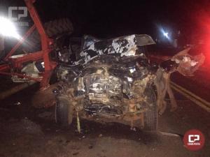 Vereador de Quarto Centenário perde a vida em acidente automobilístico na PR-317