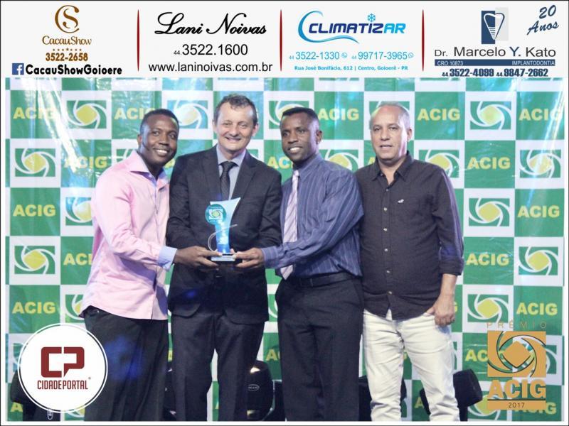 CFC São Cristovão recebeu o Prêmio ACIG - Melhores do Ano de 2017