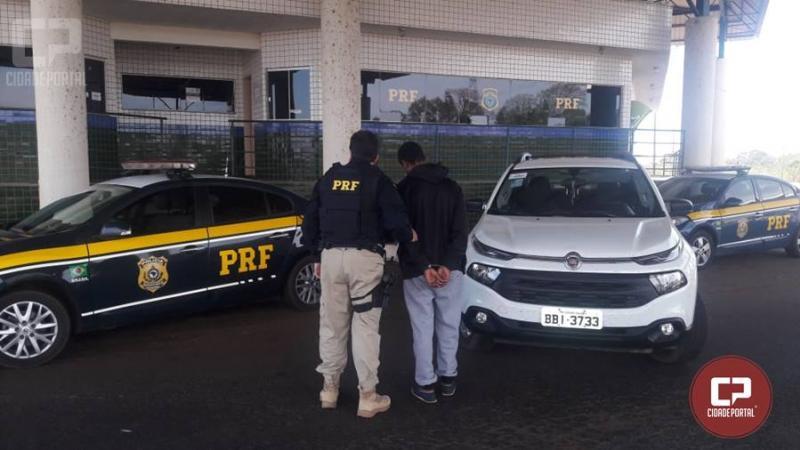Com auxílio do SINAL, PRF recupera caminhonete minutos após ter sido roubada