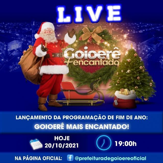 Prefeitura de Goioerê lança programação cultural do final de ano nesta quarta-feira, 20