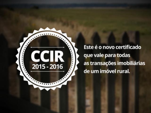 INCRA disponibiliza o CCIR 2015-2016