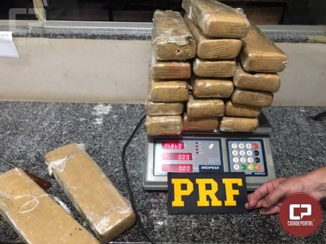PRF de Guaíra apreende droga escondida em veículo