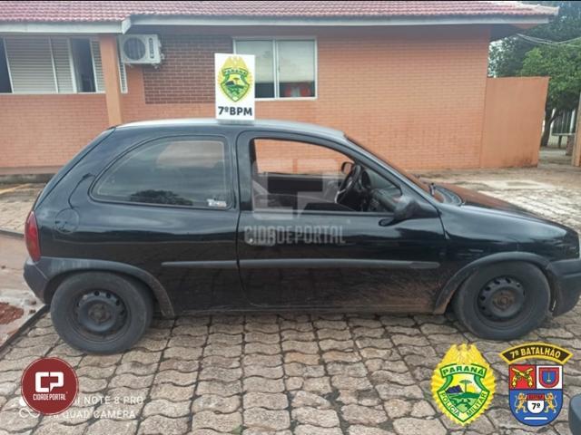 Após denúncia, Polícia Militar recupera veículo furtado que estava sendo vendido em Goioerê