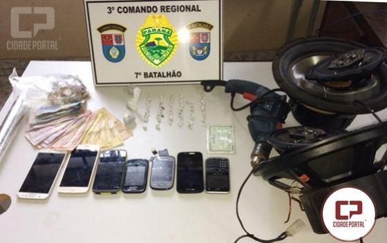 Polícia Militar do 7º BPM apreende drogas e objetos em Cruzeiro do Oeste
