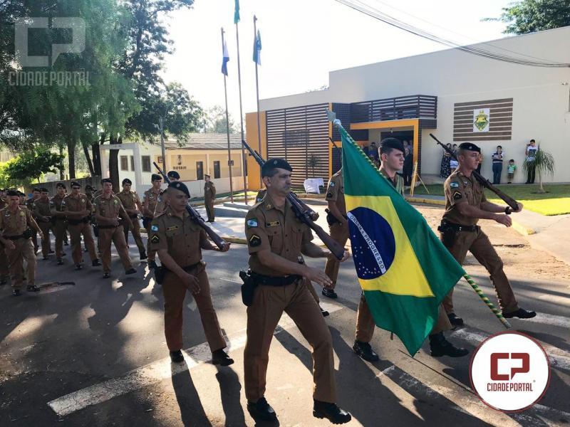 7º BPM realiza solenidade em homenagem ao dia de Tiradentes em Cruzeiro do Oeste