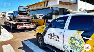 PRE de Cianorte apreende 59 kg de maconha em veículo sendo guinchado e prende duas pessoas por tráfico