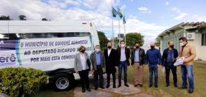 Ricardo Barros visita Goioerê para acompanhar a destinação de recursos feita para o município
