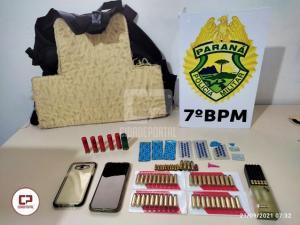 Ação conjunta da PM com o Ministério Público resulta na apreensão de diversas munições em Goioerê