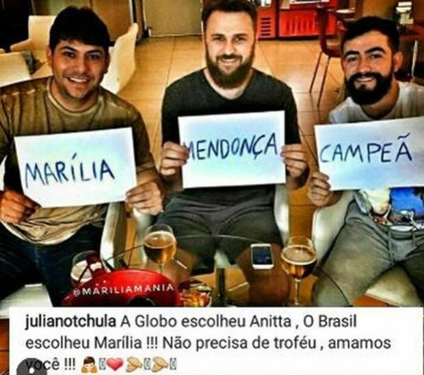 Namorado de Marília Mendonça contesta vitória de Anitta no quadro Melhores do Ano
