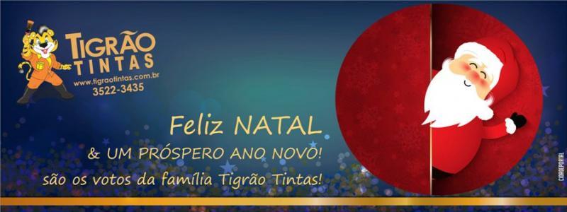 A equipe Tigrão Tintas deseja a todos um Feliz Natal e um próspero Ano Novo!