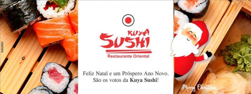 A Equipe Kuya Sushi deseja a todos um Feliz NataL e um Ano Novo repleto de felicidade!