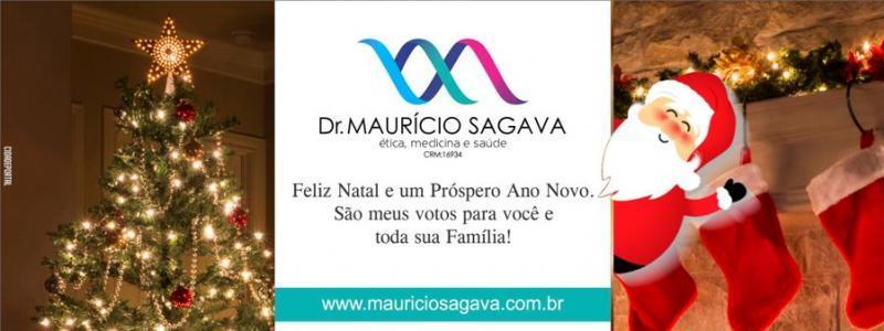Dr. Maurício Sagava deseja a todos um Feliz Natal e um Ano Novo repleto de alegrias!