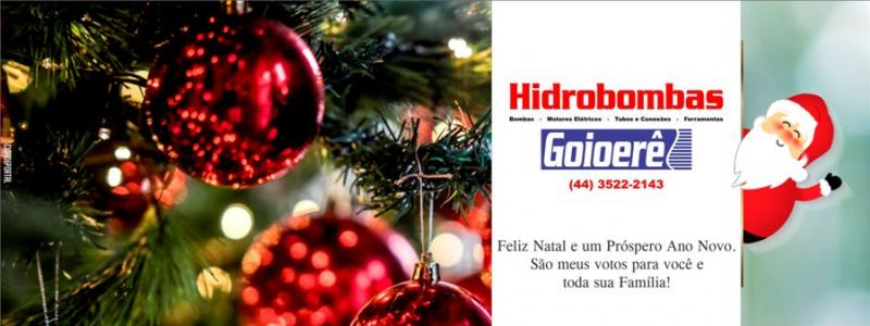 A equipe Hidrobombas deseja um Feliz Natal e um Próspero Ano Novo!