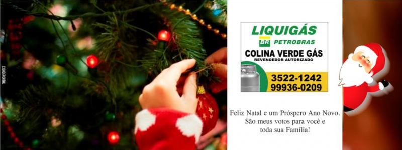 A equipe Colina Verde Gás deseja um Feliz Natal e um Próspero Ano Novo!