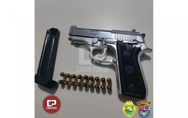 Polícia Militar prende homem e apreende arma de fogo em Goioerê