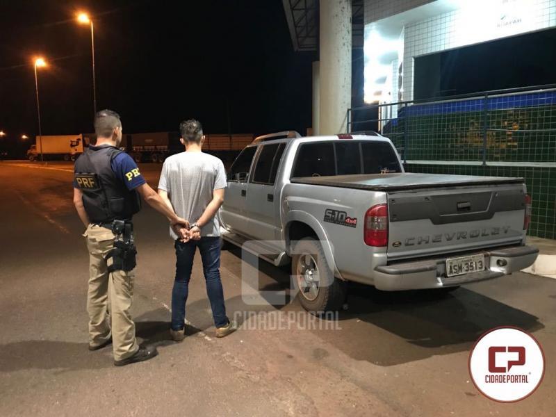 Caminhonete S-10 que foi furtada em área rural de Goioerê foi recuperada pela PRF de Guaíra