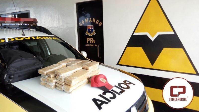 Polícia Rodoviária Estadual de Assis Chateaubriand apreende 19,9 KG de entorpecentes