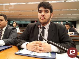 Goioerense é eleito representante do Parlamento Jovem em Brasília