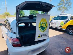 PRE de Cruzeiro do Oeste apreende veículo carregado com celulares Xiaomi em Umuarama