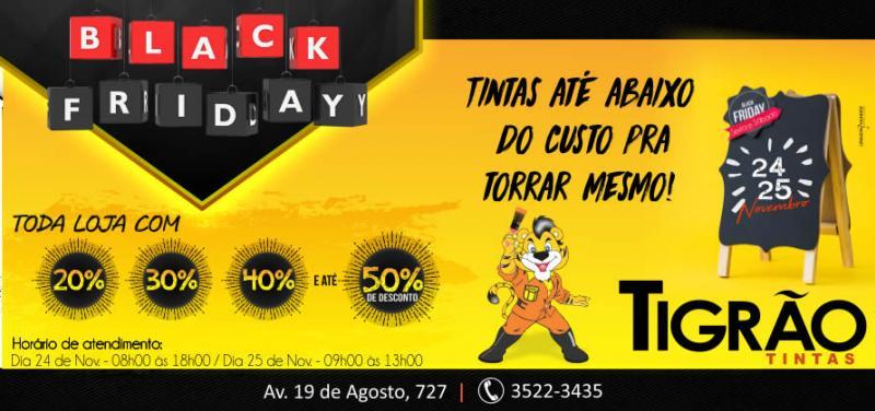 Black Friday da Tigrão Tintas - Toda loja com até 50% de desconto, até abaixo do custo pra torrar mesmo