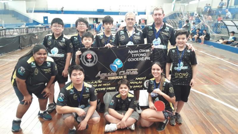 Goioerê tênis de mesa Águas claras TTPONG vice campeão geralregional paranaense