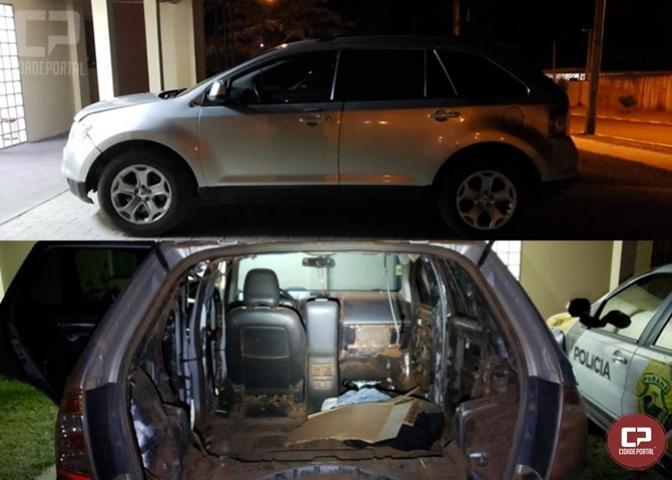 7º BPM apreende veículo que seria utilizado para crime de contrabando