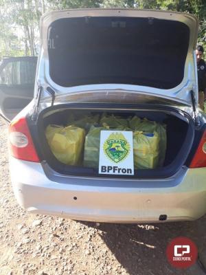 Em ação conjunta de forças policiais veículo é apreendido carregado com cigarros em Bom Jesus do Sul