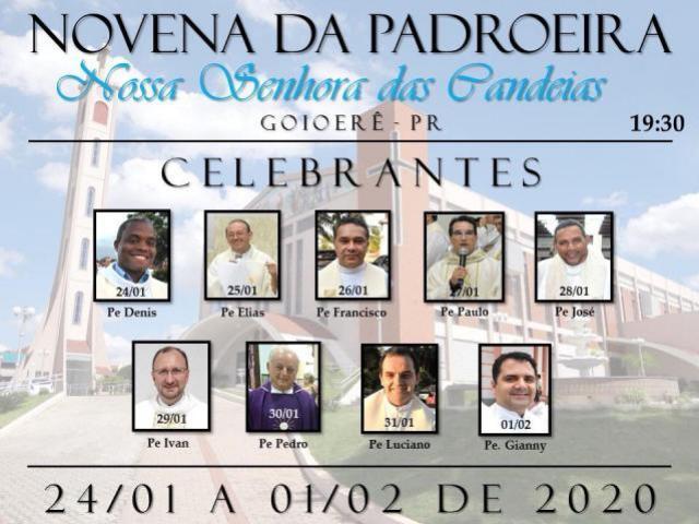 Estes serão os padres que presidirão durante a Novena de Nossa Senhora das Candeias