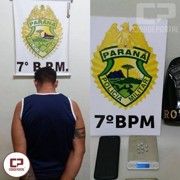 7°BPM prende homem e apreende drogas em Cruzeiro do Oeste