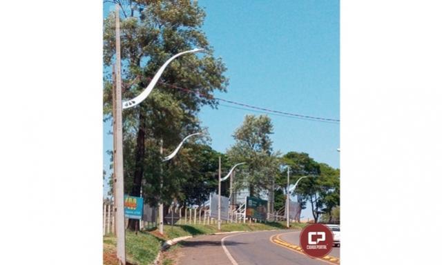 Mais uma avenida de Goioerê conta com novo sistema de iluminação LED