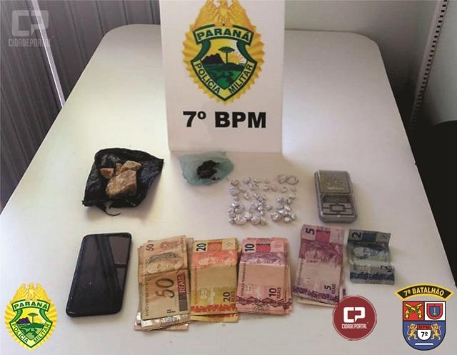 Polícia Militar do 7º BPM apreende entorpecentes e recuperam objetos furtados em Tapejara