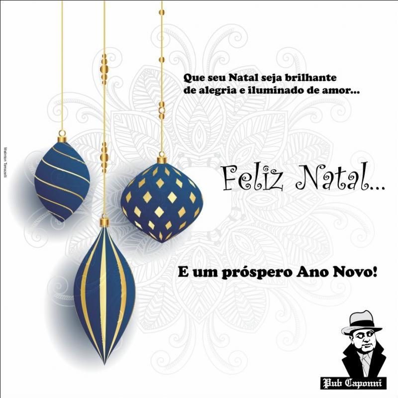 A Família Pub Caponni deseja um Feliz Natal e um Próspero Ano Novo a todos!