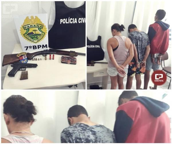 Operação Policial apreende armas de fogo e prende cinco pessoas em Tuneiras do Oeste