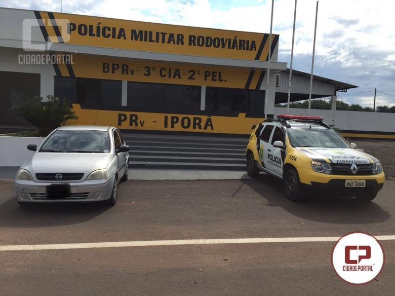 Posto Rodoviário Estadual de Iporã apreende veículo com 10 mil maços de cigarro