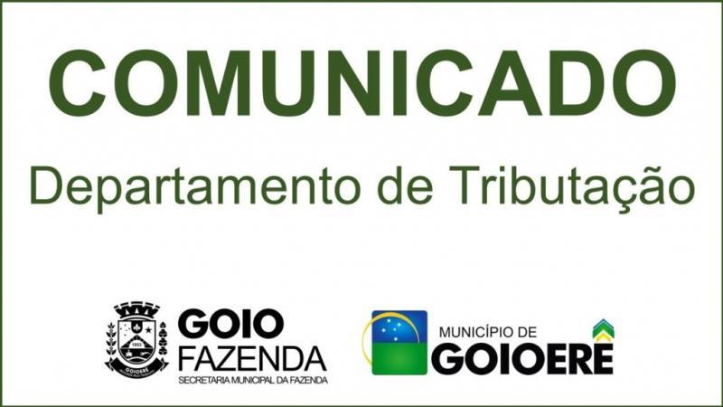 Prefeitura Municipal informa que o pagamento da cota única do IPTU com desconto de 15% vence dia 29 de maio
