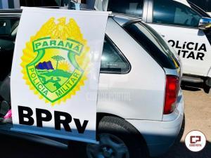 PRE de Cruzeiro do Oeste apreende veículo carregado com mercadoria contrabandeada na PR-323