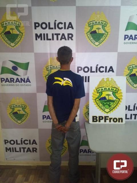Batalhão de Polícia de Fronteira prende indivíduo com arma branca em Guaíra -PR