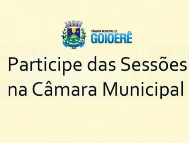 Sessões da Câmara Municipal de Goioerê foram canceladas devido ao Decreto 7.017/2021