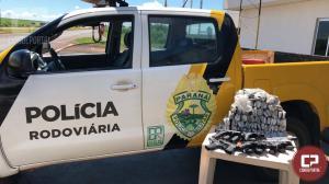 Polícia Rodoviária Estadual de Peabiru apreende armas e munições de fuzil, um indivíduo foi detido